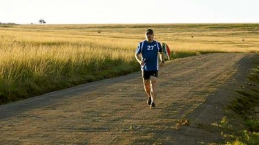Running man: <i>Mandela Marathons</i>.