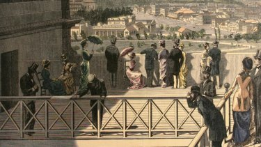 Visitors in the 1880s were able to enjoy the view from the rooftop.