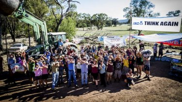 Ordered to leave again: Maules Creek protesters.