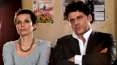 Compelling power … Sigrid Thornton and Vince Colosimo hear more than they bargained for.