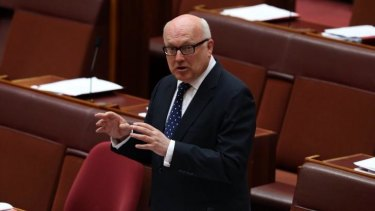 A question of trust: Attorney-General George Brandis urged members of the Press Club to trust the Coalition.