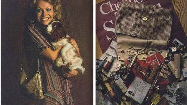 1970s nostalgia: actor Jacki Weaver once opened her Glomesh bag for an ad.