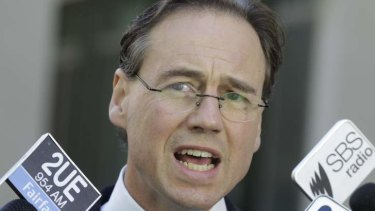 Environment Minister Greg Hunt again raised the prospect of a double dissolution over the carbon tax on Monday.