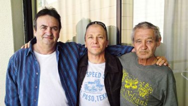 Gerry Conlon, Graham Stafford and Paddy Hill in Brisbane.