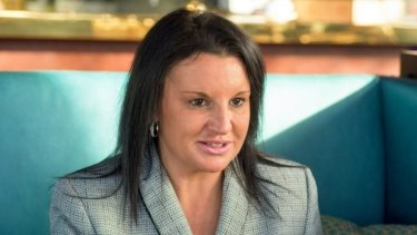 Jacqui Lambie at lunch at Frank in Hobart.