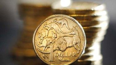 Flying ... the Australian dollar.