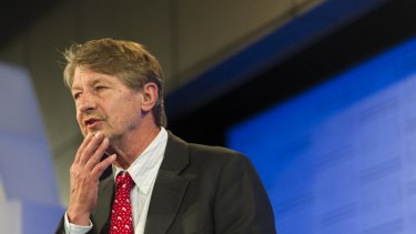 P.J.O'Rourke at the National Press Club in Canberra.