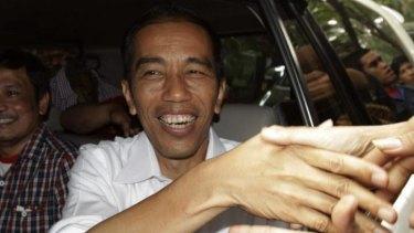Governor of Jakarta presidential candidate Joko Widodo.