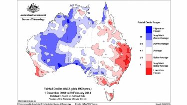 Very dry conditions in parts of eastern Australia over the past six months.