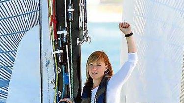 Off at last... Abby Sunderland departs Marina Del Rey in California in January.