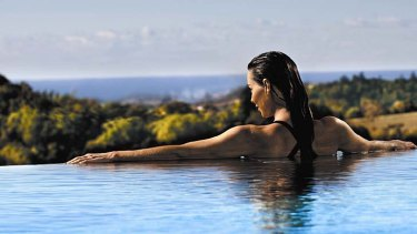 Stress less: the view from Gwinganna's swimming pool.