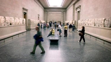 Dislocated: Friezes from the the Elgin Marbles at the British Museum in London.