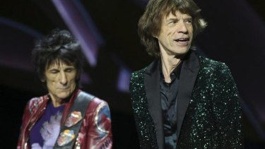 The Rolling Stones in concert at Rod Laver Arena in Melbourne, 2014.