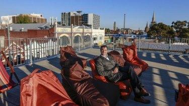 Eddie Tamir, owner of Lido Cinema in Hawthorn, at his rooftop cinema.