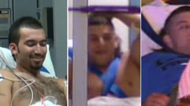 Wounded ... the three shooting victims in hospital.