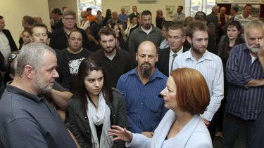 Prime Minister Julia Gillard during a visit to the Latrobe Valley.