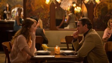 Jill (Emma Stone) and Abe (Joaquin Phoenix) in <i>Irrational Man</i>.