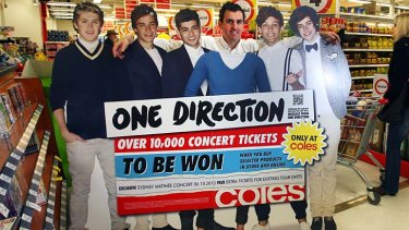 "Bandwagon: One Direction for Coles, which can only be ""down, down""."