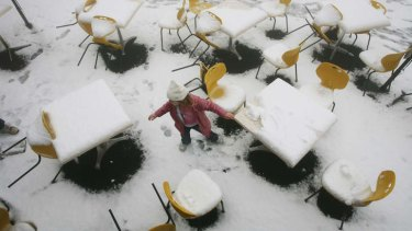 All covered: A snowfall at Mt Dandenong in 2007.