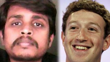Alleged stalker Pradeep Manukonda, left, and Facebook co-founder Mark Zuckerberg.