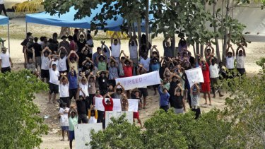 Detention limbo: A UN report has found at the time of the agency visit, only 160 of the 1093 asylum seekers held on Manus Island had lodged asylum claims.