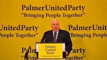 Momentum: The Palmer United Party has now endorsed nearly 100 candidates.