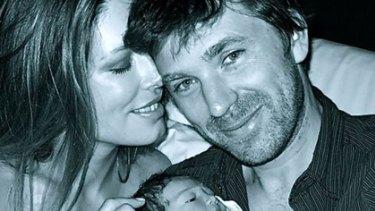 Then there were three ... Tara Moss, husband Berndt Sellheim and baby Sapphira.