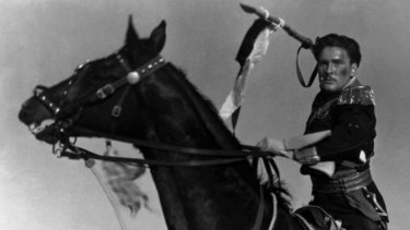 Screen idol: Australian Errol Flynn in The Charge of the Light Brigade, in which he could have used Drongo.