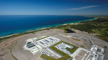 Victoria's desalination plant. in Wonthaggi.