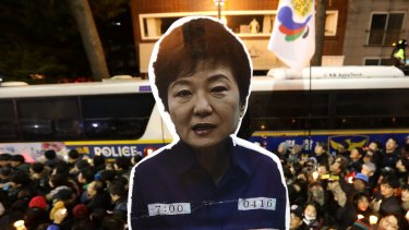 Protesters occupy major streets in the city center for a rally against South Korean President Park Geun-hye last weekend.