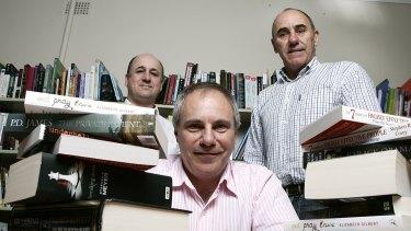 Booktopia CEO Tony Nash, centre, said Amazon has already made everyone more competitive.