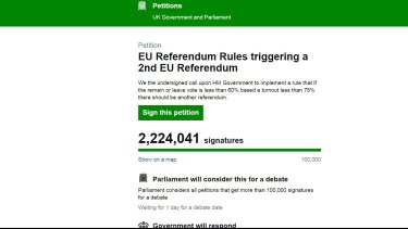 These petition numbers were apparently inflated by bots.