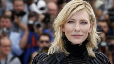 Cate Blanchett during a photocall for her film <i>Carol</i> at the 68th Cannes Film Festival.