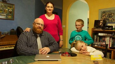 Fears: Andrew Bigwood and family.