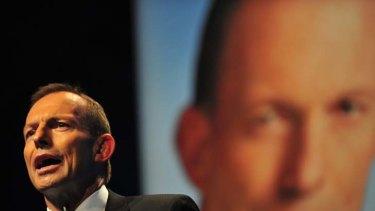 Keen to keep quiet on industrial relations ... Tony Abbott.