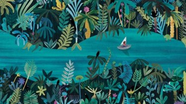 Illustration from Marc Martin's new picture book <i>A River</i>.