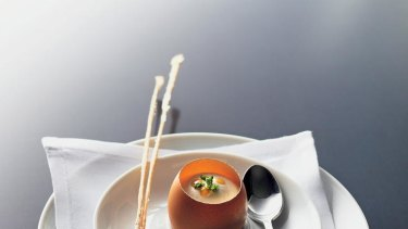 Try this at home ... Mark Best's chaud-froid free-range egg and grissini (recipe below).