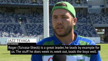 Young Warriors hooker Jazz Tevaga speaks on the big impact Dally M winner Roger Tuivasa-Sheck has on the team.