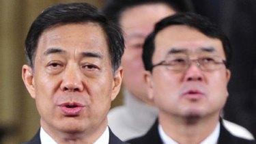 Bo Xilai, left, and Wang Lijun ... no longer in step.