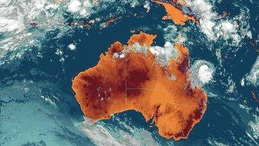 Bianca has weakened below cyclone intensity as this latest satellite image shows.