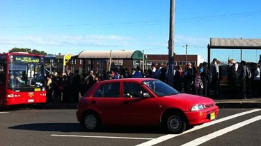 Reader Sarah McNiven took this shot of the queue for buses outside Sydenham Station.