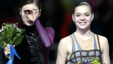 Controversy on the ice: Adelina Sotnikova, right, and Kim Yu-Na.