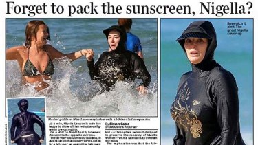 How the Daily Mail reported Nigella Lawson's last trip to Australia.