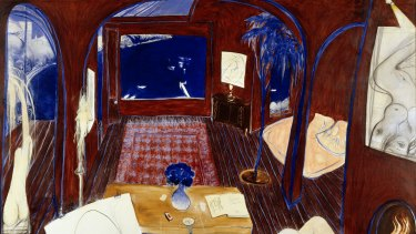 Henri's armchair, Brett Whiteley, 1974-75. Art Gallery of NSW.