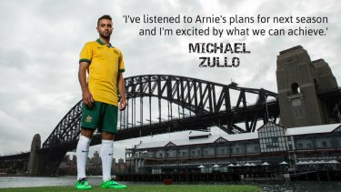 Looking ahead: Socceroos defender Michael Zullo.