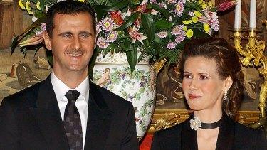 President Bashar al-Assad and his wife Asma.