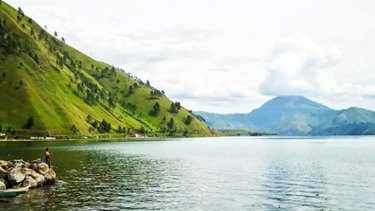 Toba Lake is about 100 kilometres long, 30 kilometres wide, and up to 505 metres deep.