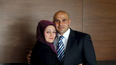 The right image: Hazem El Masri and his former wife, Arwa Abousamra, in 2009.