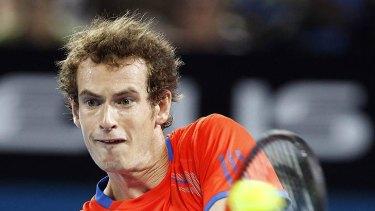 Andy Murray during his first round Brisbane International match with Mikhail Kukushkin of Kazakhstan.