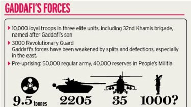 How Gaddafi's forces stack up